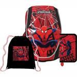 Školský set Sun Ce Disney Spiderman - batoh, penál, sáček čierny/červený