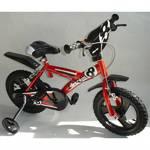 """Bicykel Dino Bikes s nafukovacími koly 14"""", volnoběh, V-brzdy červené"""