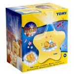 Nočný projektor Tomy Hvězda - hra světel žlutá žlté