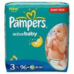 Plienky Pampers Active Baby Active Baby vel. 3, 96 ks