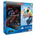 Herná konzola Sony PlayStation 3 500GB + Move Starter Pack + 2 ovladač Move + hra GT5 + hra Sport Champions 2 (PS719802013) čierna