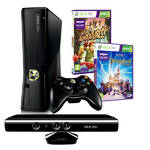 Hern konzola Microsoft Xbox 360 4GB Kinect 2 kinect hry (Adventures + Disneyland) (S4G-00159) ierna