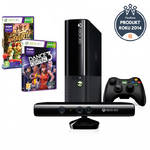 Microsoft Xbox 360 4GB Kinect + Kinect Adventures + Dance central 3 (N7V-00054)