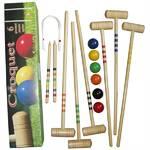 Kroket  Brother sada pro 6 hráčů v papírové krabici -palice,koule,branky - italská výroba
