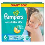 Plienky Pampers Active Baby- dry vel.6 Extra Large, 66ks