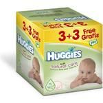 Obrúsky čistiace Huggies Natural Care 3+3 Gratis (64x6)