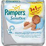 Obrsky Pampers Ubrousky Pampers Baby Sensitive, 4 x 56 ks