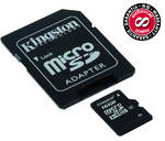 Pamov karta Kingston MicroSDHC 16GB Class 4 + adapter (SDC4/16GB)