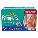 Plenky Pampers Active Baby vel. 3, 112 ks