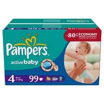 Plienky Pampers Active Baby Active Baby vel. 4, 99 ks