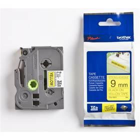 Páska do tlačiarne Brother TZES621, 9mm (TZES621) čierna/žltá