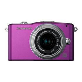 Digitálny fotoaparát Olympus E-PM1 Kit 14-42mm 1:3.5-5.6 II R strieborný/fialový