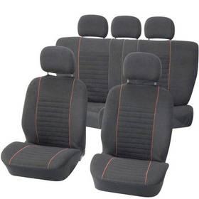 Potahy sedadel Carpoint na celé vozidlo 9 dílů - Velours červené / černé