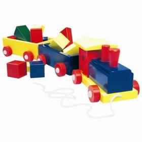 Velký barevný vlak se dvěmi vagony