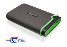 Externí pevný disk 2,5 Transcend 750GB USB 3.0 TS750GSJ25M3 šedá barva/zelená barva  + Pouzdro na HDD za zvýhodněnou cenu