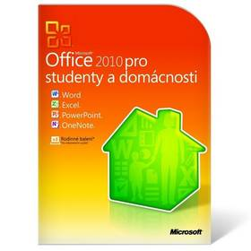 Software Microsoft Office 2010 CZ pro studenty a domcnosti - krabicov verze (79G-01897)