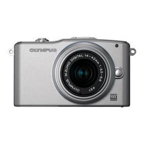 Digitálny fotoaparát Olympus E-PM1 Kit 14-42mm 1:3.5-5.6 II R strieborný