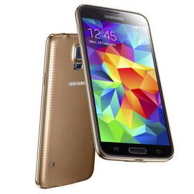 Mobilní telefon Samsung Galaxy S5 (SM-G900) - Copper Gold (SM-G900FZDAETL) zlatý