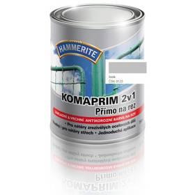 Farba Hammerite Komaprim 2v1 přímo na rez, šedý