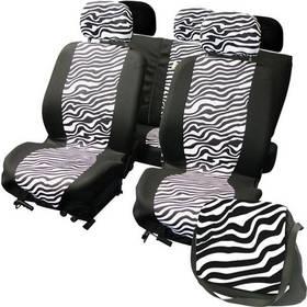Potahy sedadel Carpoint na celé vozidlo - LadyLine Zebra