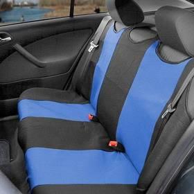 Poťah sedadiel Compass TRIKO zadní 1 ks modrý