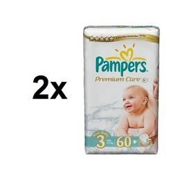 Pampers 2x Premium Care Midi vel. 3, 60 ks