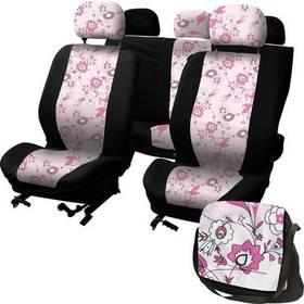 Potahy sedadel Carpoint na celé vozidlo - LadyLine Pink Flower
