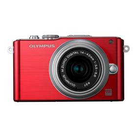 Digitálny fotoaparát Olympus E-PL3 Kit 14-42mm 1:3.5-5.6 II R strieborný/červený