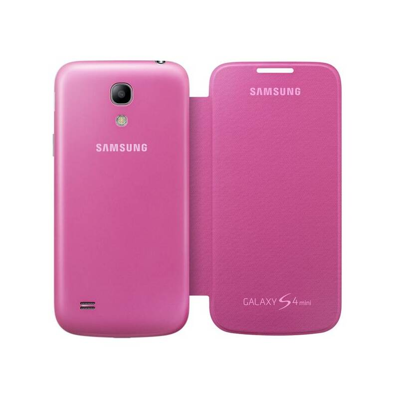 Puzdro na mobil flipové Samsung pro Galaxy S4 mini (EF-FI919BP) (EF-FI919BPEGWW) ružové