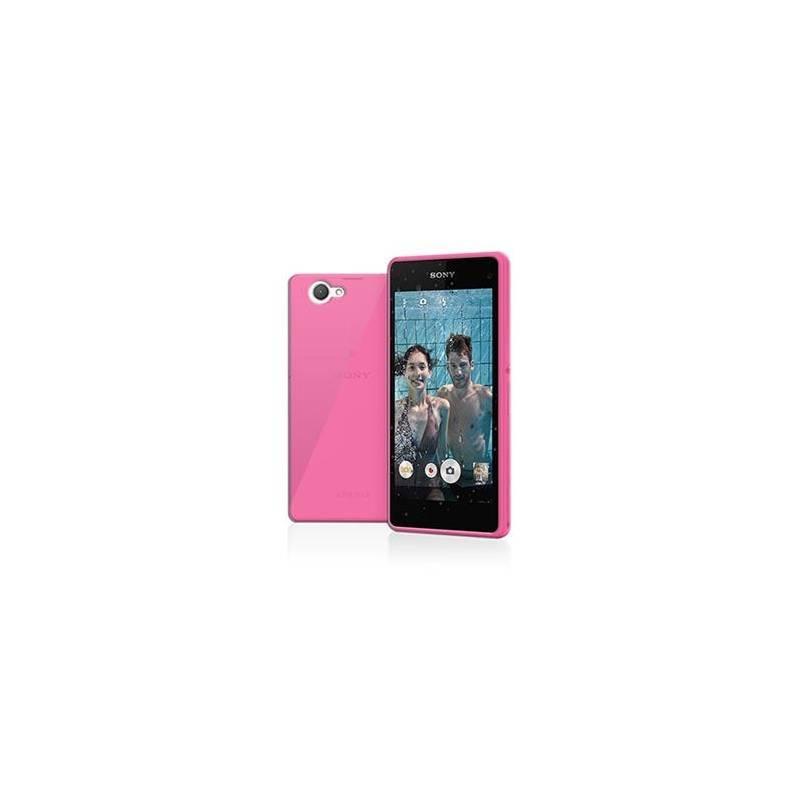 Kryt na mobil Celly Gelskin pro Sony Xperia Z1 Compact (GELSKIN386PK) ružový
