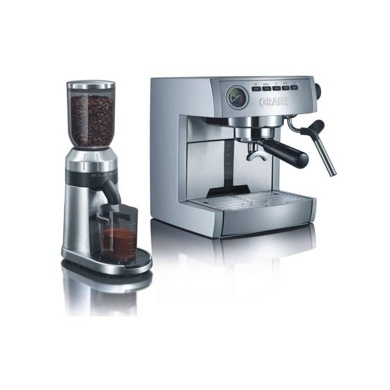 espresso graef es 85 cm 80 strieborn nerez. Black Bedroom Furniture Sets. Home Design Ideas