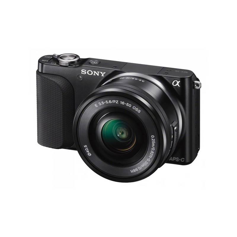 Digitálny fotoaparát Sony NEX-3NLB, černý + objektiv SELP1650 (NEX3NLB.CE) + Doprava zadarmo