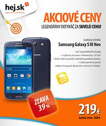 Samsung Galaxy S III Neo so zľavou 139 € a dopravou zadarmo!