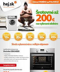Využite šrotovné až vo výške 200 €! Vybrané spotrebiče za akciové ceny