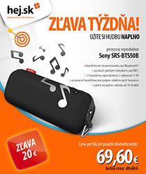 Prenosný reproduktor Sony so zľavou 20 € a obľúbený TV GoGEN!