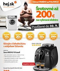 Využite šrotovné až 200 € - vybrané spotrebiče za akčné ceny! Odber v HEJHOUSE zadarmo