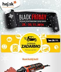 Black Friday je tu! Zľavy až 50 % a doprava zadarmo nad 30 €