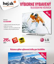 Doručíme vám do Vianoc múdry televízor od LG so zľavou až 40 % a dopravou ZADARMO!
