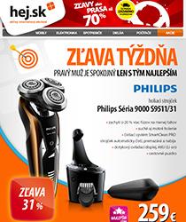 Najlepšie ceny týždňa - holiaci strojček Philips so zľavou 31 %!