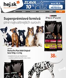 Akcia Purina Pro Plan - granule 14 kg + 2,5 kg ZADARMO a zľava 10 % na chovateľské potreby!