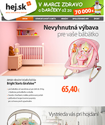 Nevyhnutná výbava pre vaše bábätko za skvelé ceny a osobným odberom na 1450 miestach