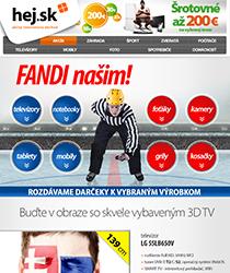 UŽ LEN 4 DNI! Fandite slovenským hokejistom spolu s nami na novom televízore so zľavou až 37 %