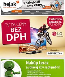 Jedinečná akcia! Vybrané Full HD TV od LG za ceny bez DPH len do 1. 7.