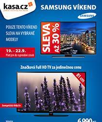 Pouze tento víkend sleva až 30 % na vybrané TV Samsung! Nakupujte na splátky 0% navýšením