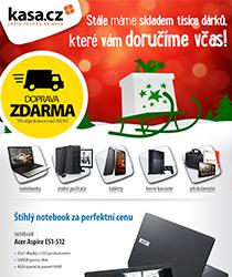 Vánoční dárky bez obav! Zboží stále skladem a včas doručené. IT a gaming od 499 Kč