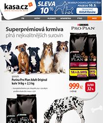 Akce Purina Pro Plan - granule 14 kg + 2,5 kg ZDARMA a sleva 10 % na chovatelské potřeby!