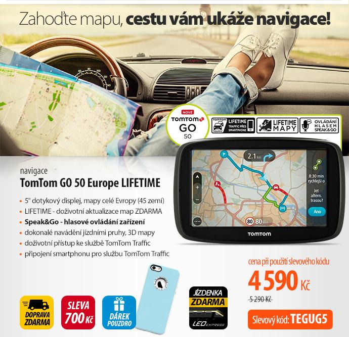 Navigační systém GPS Tomtom GO 50 Europe LIFETIME (1FC5.002.06) černá