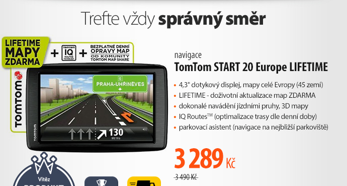 Navigační systém GPS Tomtom START 20 Europe LIFETIME mapy (1EN4.002.19)