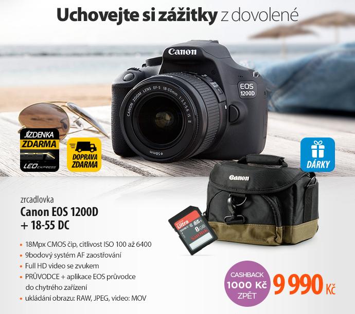 Digitální fotoaparát Canon EOS 1200D černý + 18-55 DC + 8GB černý