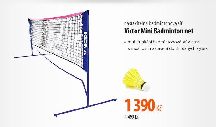 Badminton síť Victor Mini Badminton net - 3 nastavitelné výšky černá